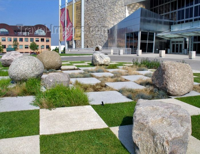 usa713: USA - Indianapolis (Indiana): Indiana State Museum - checkerboard landscape - photo by G.Frysinger (c) Travel-Images.com