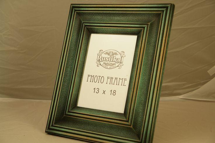 Zielono-turkusowa ramka na zdjęcie z czarną patyną. Rękodzieło Hand Made. Szeroka listwa 7 cm. Różne rozmiary. Producent. Tel.+ 48 889-272-071