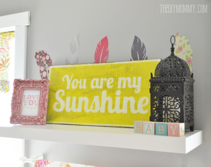 How to make a DIY rustic wooden sign - such a cute You Are My Sunshine sign!