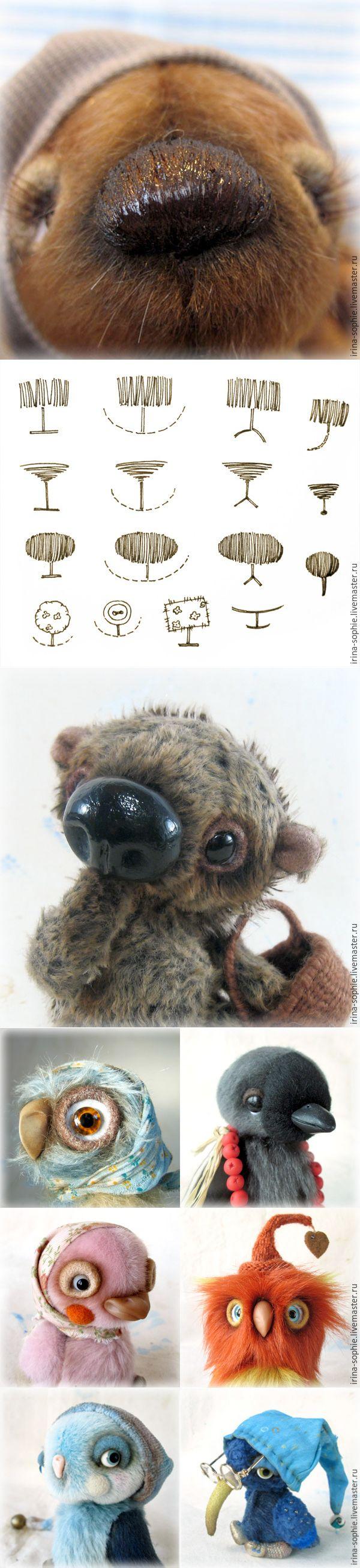 10 способов изготовить нос для Тедди - Ярмарка Мастеров - ручная работа, handmade