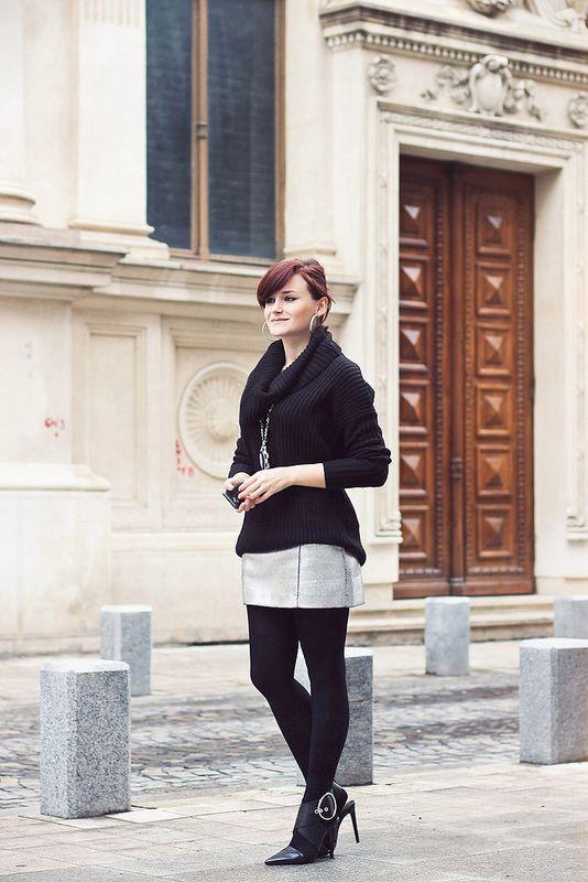 Winter fashion #skirt