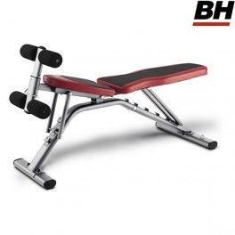 Respaldo eleva do en el banco graduable para musculación BH Fitness Optima G320