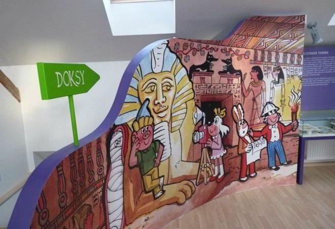 Kudy z nudy - Muzeum Čtyřlístku v Doksech - na výlet s Pinďou, Bobíkem, Myšpulínem a Fifinkou