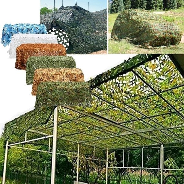 8 Colors Camouflage Sunshade Net Army Mesh Nets Lightweight Durable Sunshade Patio Garden Decoration For Hunting Blind Shooting Camping Photography Jungle Wis Patio Garden Patio Garden Decor