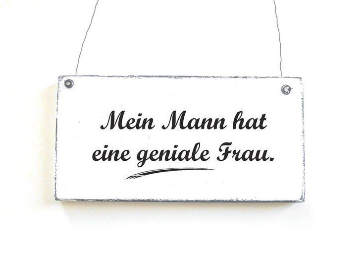 Dekoschild GENIALE FRAU Holzschild Schild von DÖRPKIND auf www.doerpkind.de