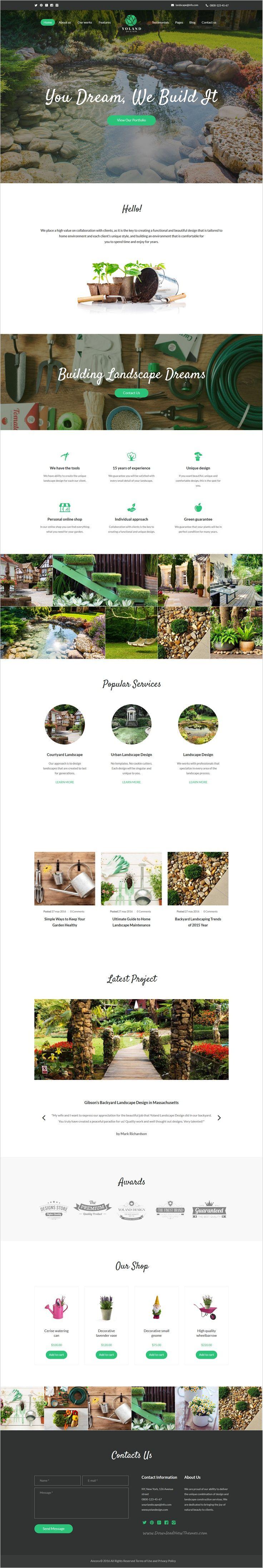 Yoland is a beautifully design premium #WordPress #theme for #Courtyard, Urban Landscape Design and Garden accessories store website download now➯ https://themeforest.net/item/yoland-landscape-design-garden-accesories-store-/16705104?ref=Datasata