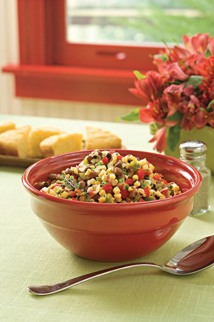 Crowder Pea Succotash | Take advantage of summer's vibrant bounty from farmers' markets, local farm stands, or even your own backyard with these delicious recipes. Summertime is prime time for fresh produce from your local farmers' market, where you'll find peaches, creole tomatoes, okra, corn, summertime squash, cherry tomatoes, green beans, and so much more. In the South, summertime recipes abound from farmers' markets bursting at the seams with fresh, colorful, and tasty fruits and