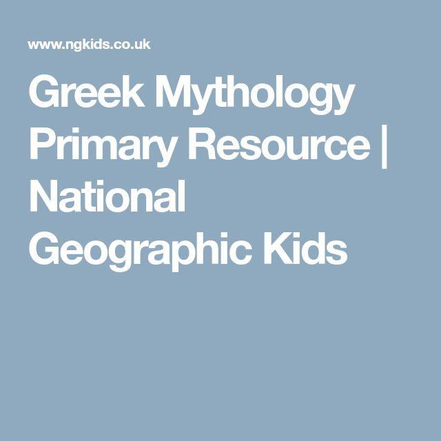 Greek Mythology Primary Resource | National Geographic Kids