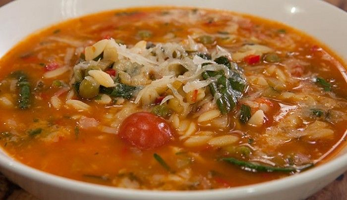 Spinach & Tomato Risoni Soup | Good Chef Bad Chef