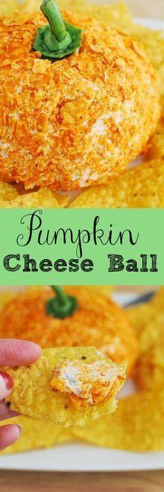 Pumpkin Cheese Ball Pumpkin Cheese Ball - delicious cheddar...  Pumpkin Cheese Ball Pumpkin Cheese Ball - delicious cheddar cheese ball with crushed Doritos on the outside to look like a pumpkin! Recipe : http://ift.tt/1hGiZgA And @ItsNutella  http://ift.tt/2v8iUYW