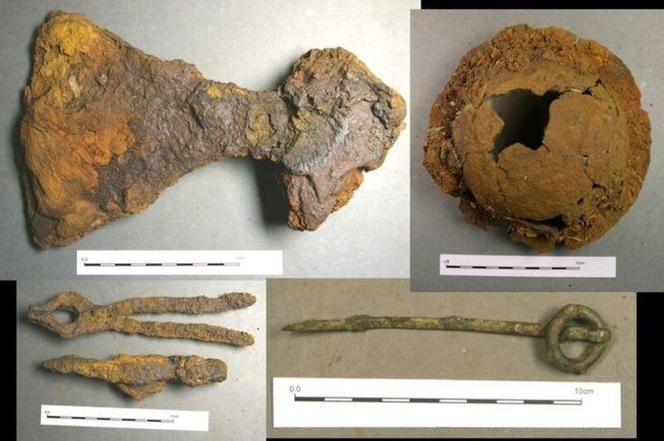 Harvinaisen viikinkihaudan miekkamies saattoikin olla nainen Osa haudan esineistä kuuluu arkeologien perinteisten tulkintojen mukaan miehelle, osa naiselle.  Arkeologia21.2.2017 klo 08:30