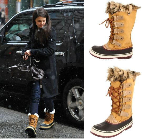 Katie Holmes Braving the Cold New York Weather Wearing a Cute Pair