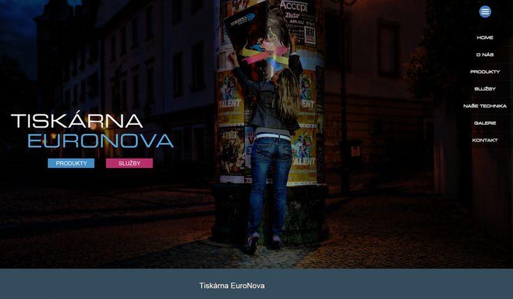 WFB Media Plzeň, zhotovení webových stránek a prezentací nejen            v Plzni a okolí - reference: vytvořili jsme tyto webové stránky pro firmu Tiskárna Euronova