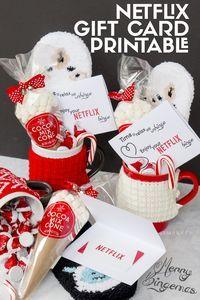 Merry Bingemas Teachers Gift - FREE Netflix Gift Card Printable