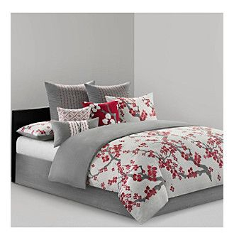 Cherry Blossom Bedding Collection by N Natori at www.herbergers.com