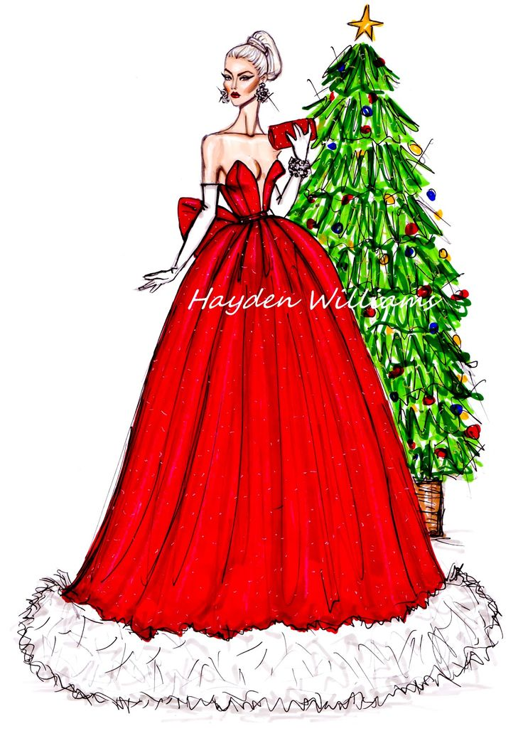 #Hayden Williams Fashion Illustrations: #Festive Couture 2012 by Hayden Williams