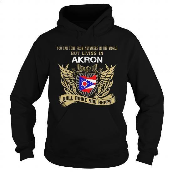 Akron-Ohio - #hoody #mens sweatshirts. CHECK PRICE => https://www.sunfrog.com/LifeStyle/Akron-Ohio-Black-Hoodie.html?60505