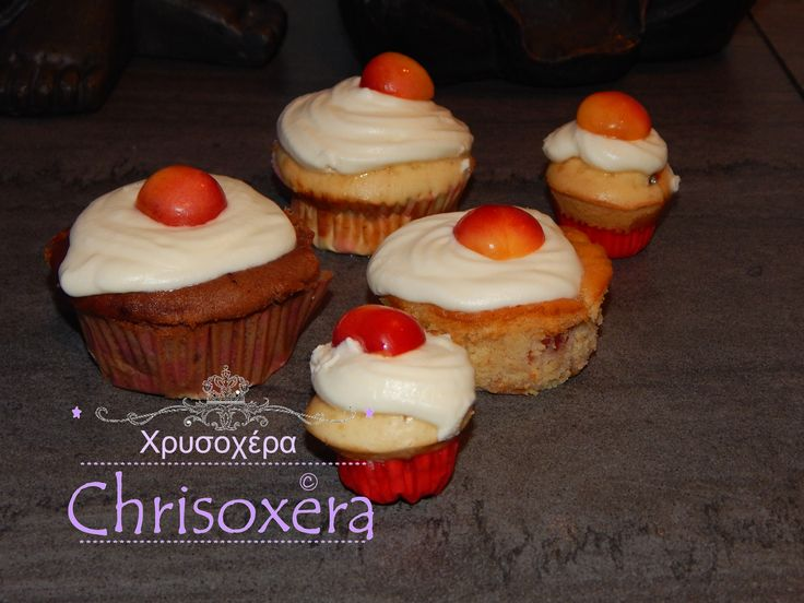 #Marble and #Madeira #Cupcake with #Cherry and #Buttercream #Cheesecream #Frosting