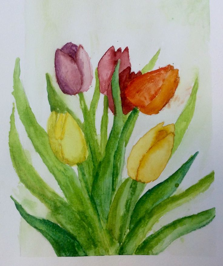Watercolours Tulips Mother's Day Card
