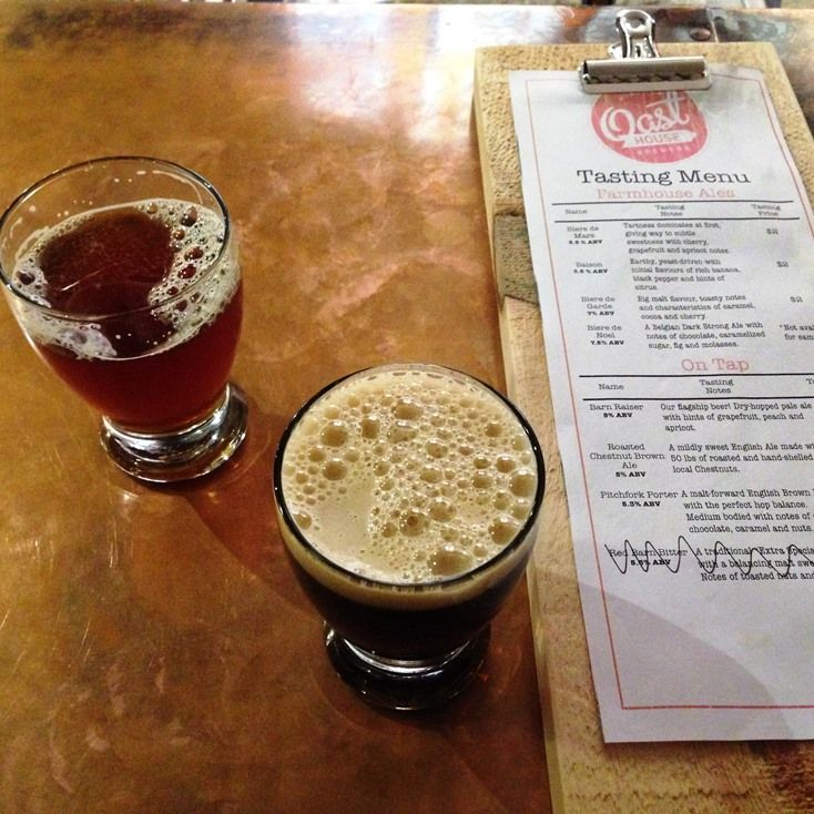 Oast House Brewery Tasting Menu in Niagara-on-the-Lake | discoverhappiness.ca