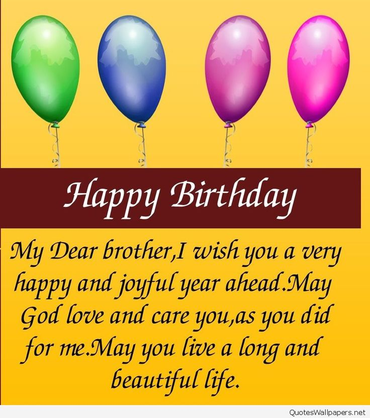 Best 20+ Happy Birthday Brother Wishes Ideas On Pinterest