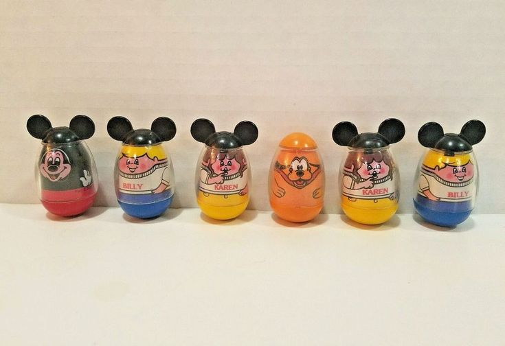 MICKEY MOUSE CLUBHOUSE Playset 1976 & 7 Weebles Hasbro Romper Room #582  #Hasbro