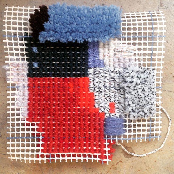 Double-sided design by Josephine Ortega #weave #offloom #tuffting #csmtextiles…