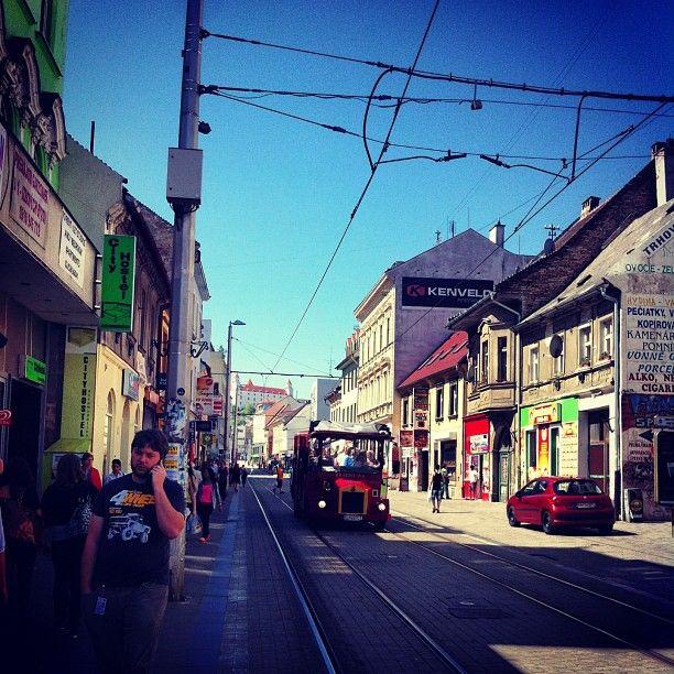 Obchodná ulica Bratislava, Slovakia.