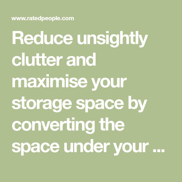 Reduce unsightly clutter and maximise your storage space by converting the space under your stairs. Find a local carpenter with us.
