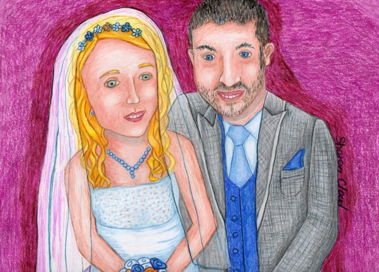 9x12 colored pencil wedding portrait for my 2nd niece.