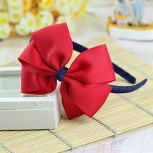 Grande flor vermelha crianças crianças do bebê meninas cabelo acessórios faixas de cabelo headwear bow varejo atacado Boutique tiara GG-1-2(China (Mainland))