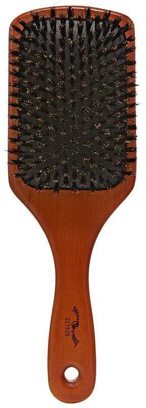 Brush Strokes Hardwood Boar Bristle Cushion Paddle Brush
