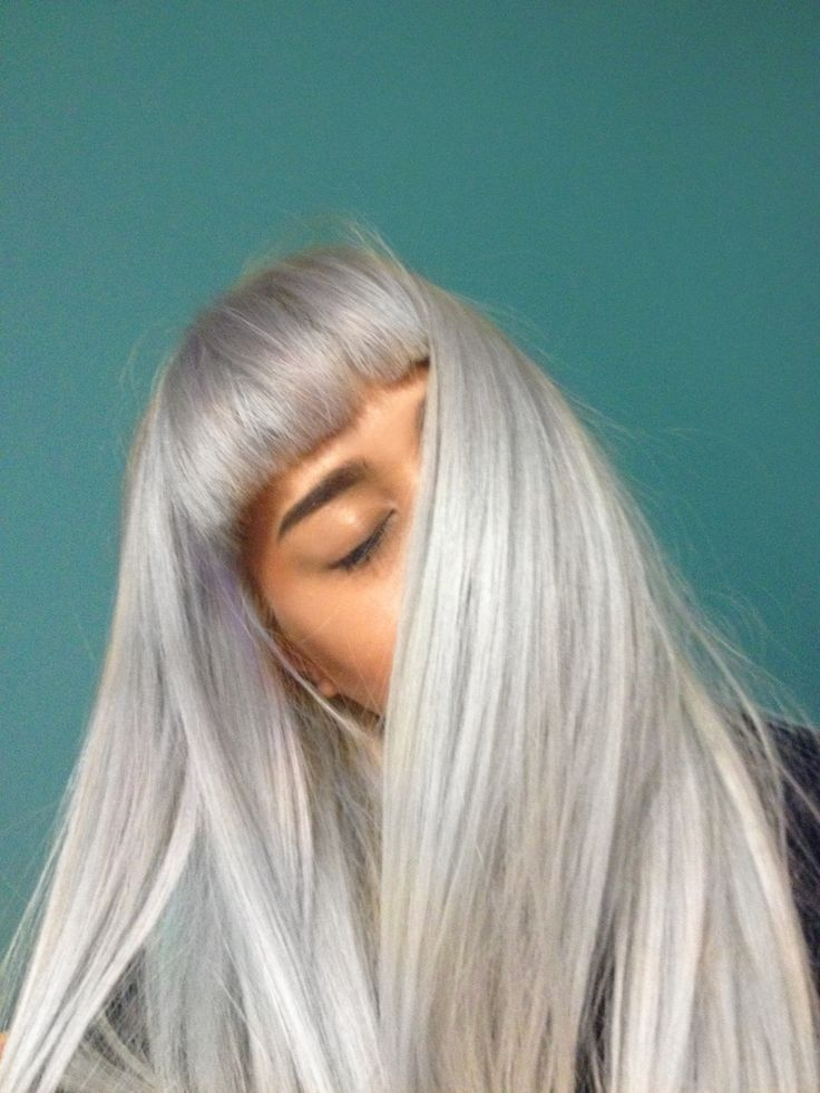 Long silver gray straight hair. Discover the #1 shopping tip http://GoGetSave.com and watch how!