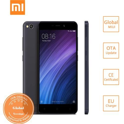 [HK Stock][Official Global Version]XIAOMI Redmi 4A 5.0inch HD MIUI 8 Android 6.0 4G LTE Smartphone Qualcomm Snapdragon 425 Quad Core 1.4GHz 2GB 32GB 5.0MP 13.0MP 3120mAh Battery WIFI GPS - Gray
