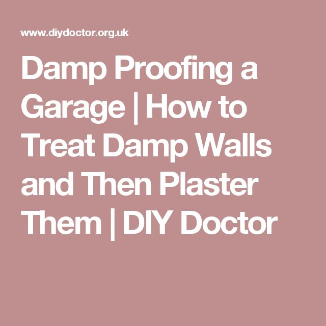 Damp Proofing a Garage | How to Treat Damp Walls and Then Plaster Them | DIY Doctor