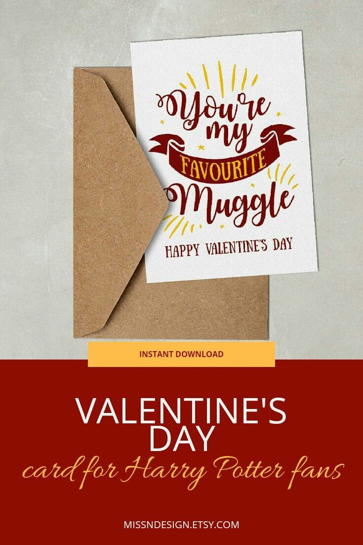 Harry Potter Card Harry Potter Quotes Funny Harry Potter Etsy Harry Potter Cards Harry Potter Valentines Harry Potter Gifts
