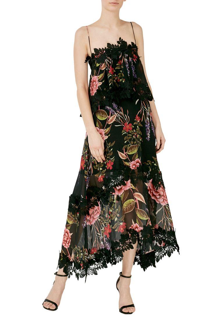 Peony Floral Overlay Dress   NICHOLAS   PEONY PRINT