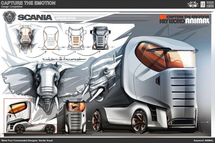 Animal Truck Concept Design Sketch by Serdar Soyal