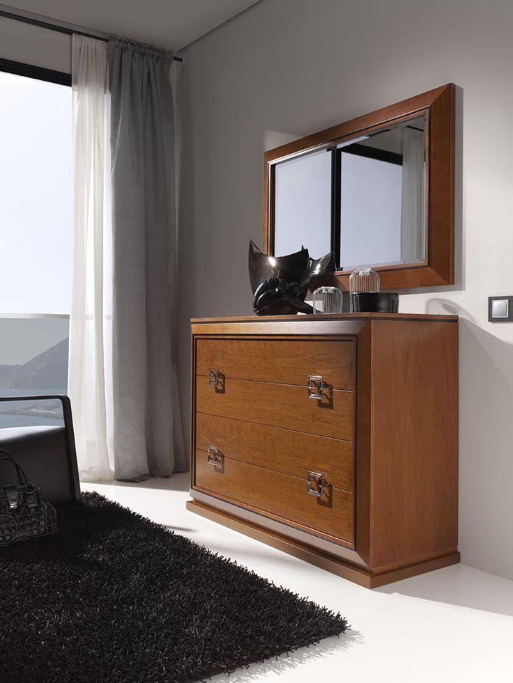 Cómoda colección Mar, con sus diferentes acabados en arena, blanco, negro o cerezo, combinan a la perfección en cualquier tipo de dormitorio.