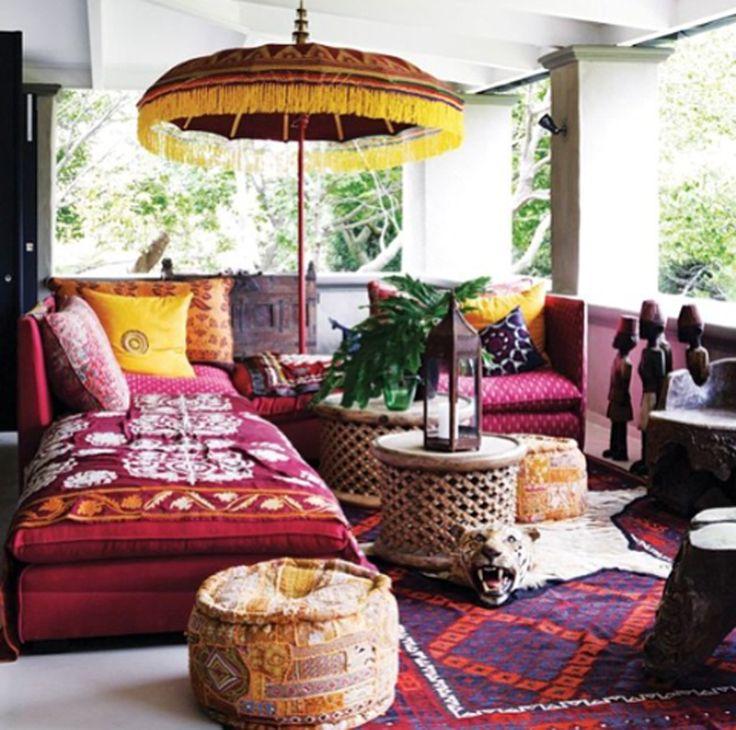 Lounge Boho. Interior desing