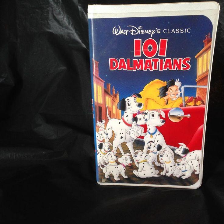 101 Dalmatians (VHS, 1992) Disney Black Diamond Classics