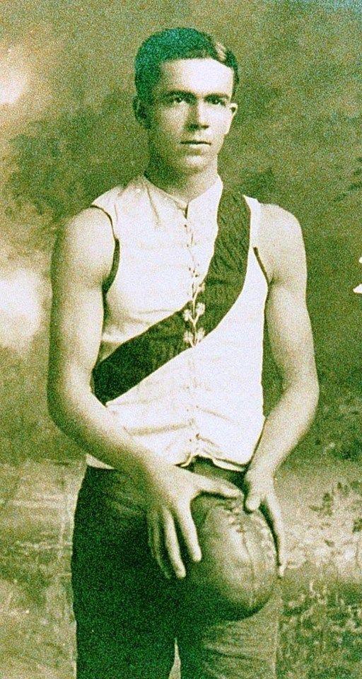 Vic Belcher. Played 1907-1920. Games South Melbourne 226. Coach South Melbourne, Fitzroy 1914-1927. Umpire 1921-1930. Premiership player South Melbourne 1909, 1918.