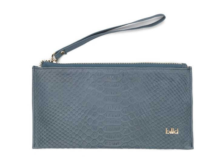 ikki Fashion, ikki style, clutch, blue, grey, leather goods, accessoires