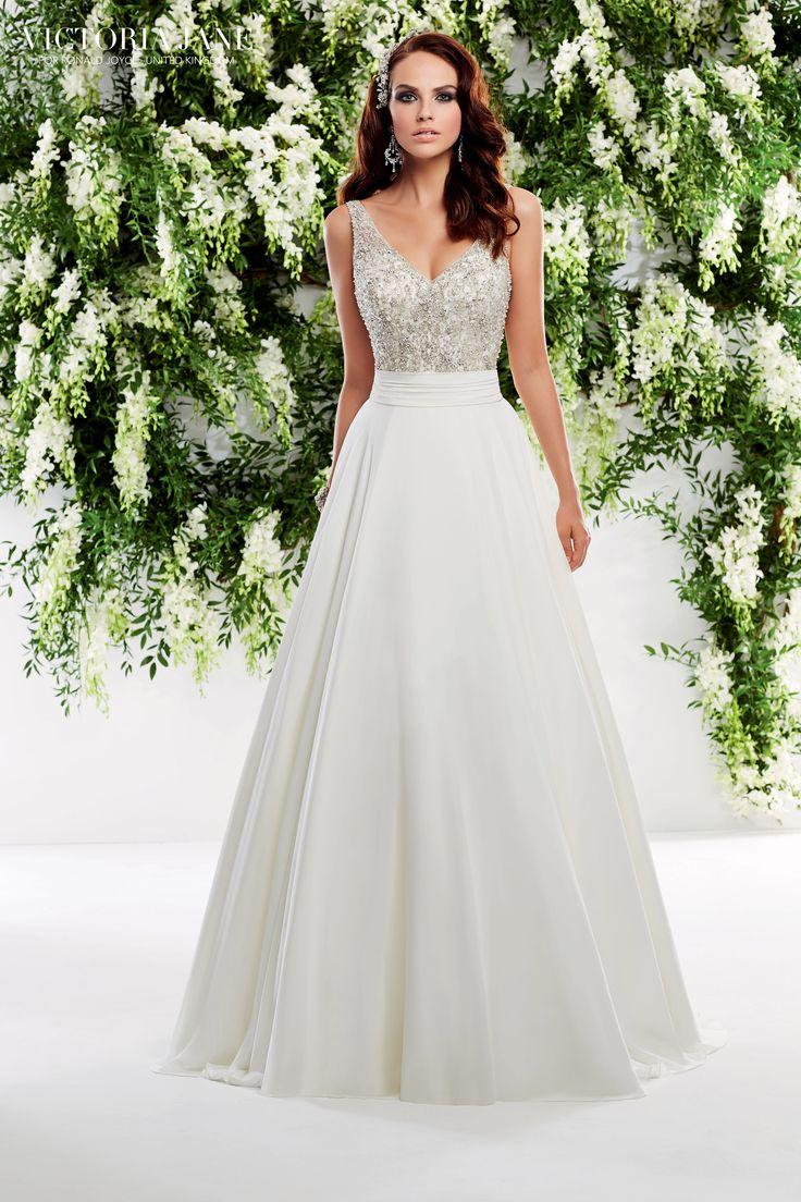 Elegant A-Line dress with fab detailing, from Finesse Bridal Wear #ALineDress #GorgeousBridalWear