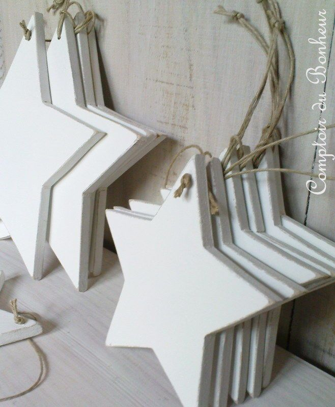 make these diy stars to hang from xmas tree