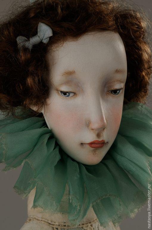 """Купить Авторская кукла """"Августина"""" - белый, сливочный, голубой, небесно-голубой, кукла, авторская кукла"""