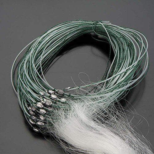 25M 3 Layers Monofilament Gill Fishing Net With Float Fish Trap Rede De Pesca Fishing Network^White.