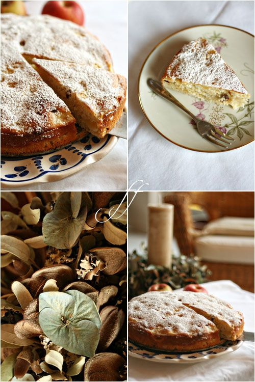 torta di mele ricotta e uvetta