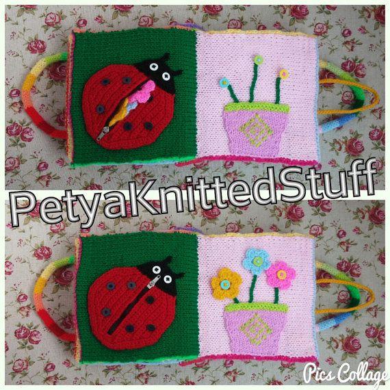 Quiet Book  Knitted Quiet Book  Children's Quiet Book