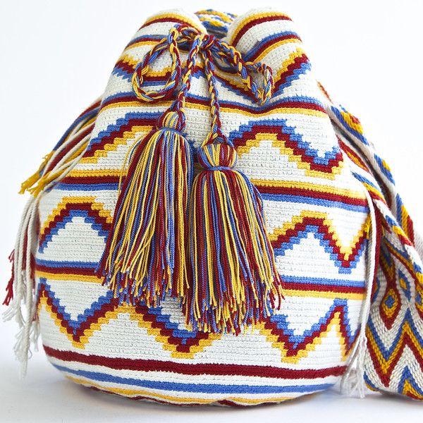 AUTHENTIC HANDMADE WAYUU MOCHILA BAGS |  WOVEN BY THE INDIGENOUS WAYUU TRIBE OF  SOUTH AMERICA 100% COTTON. www.wayuutribe.com $325.00 #BeachBag #Desertstlyle #wayuutribe #surf #shoulderbag